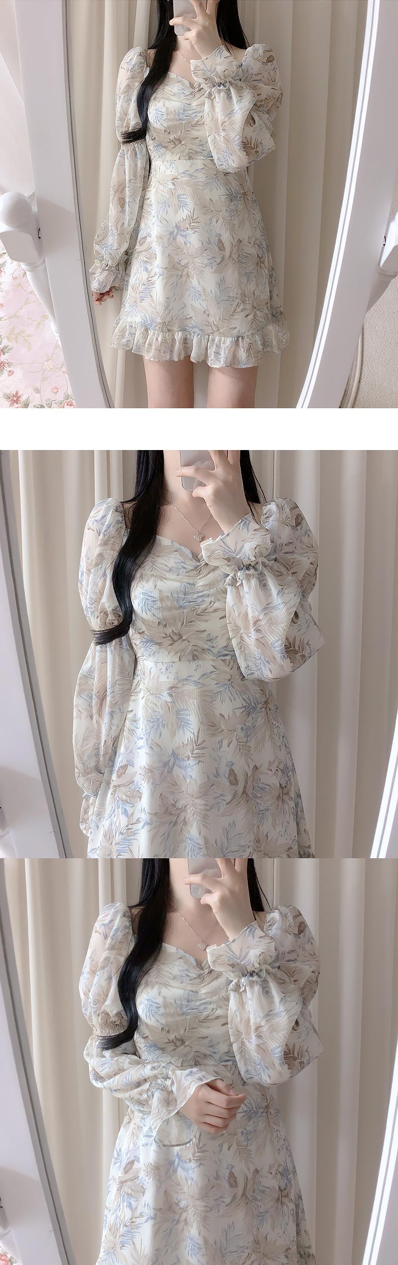 Aloha Shirring Shoulder Dress