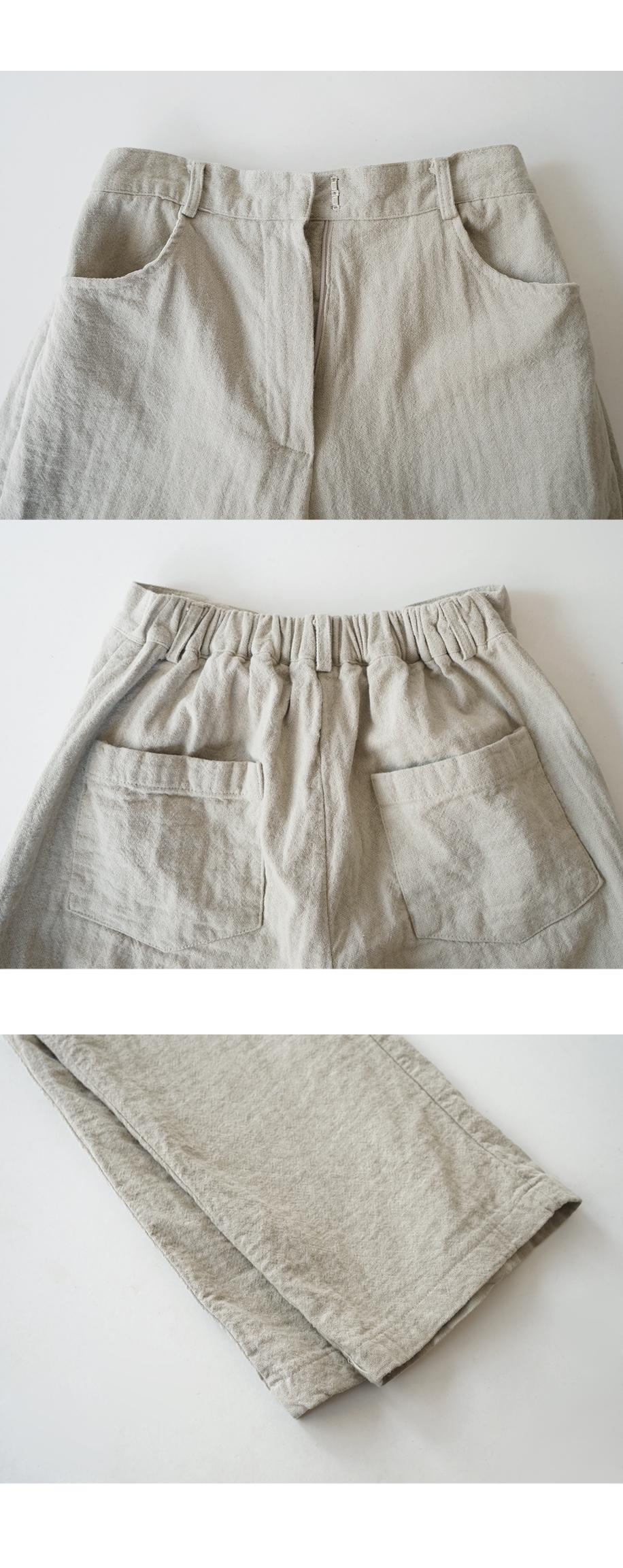 natural linen long slacks