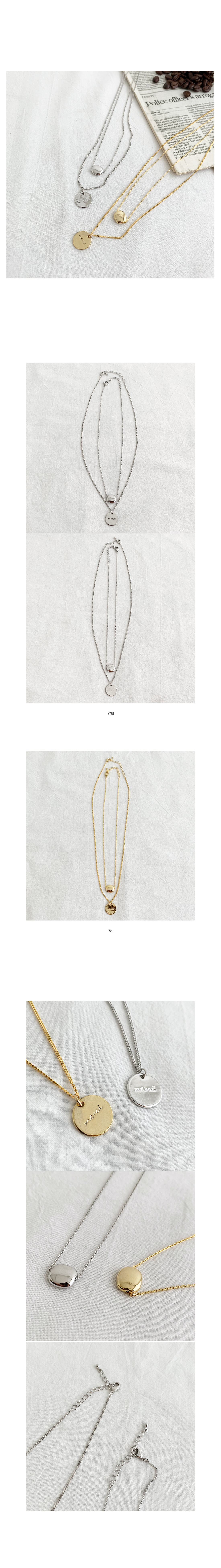 Mer 2set Necklace-Silver