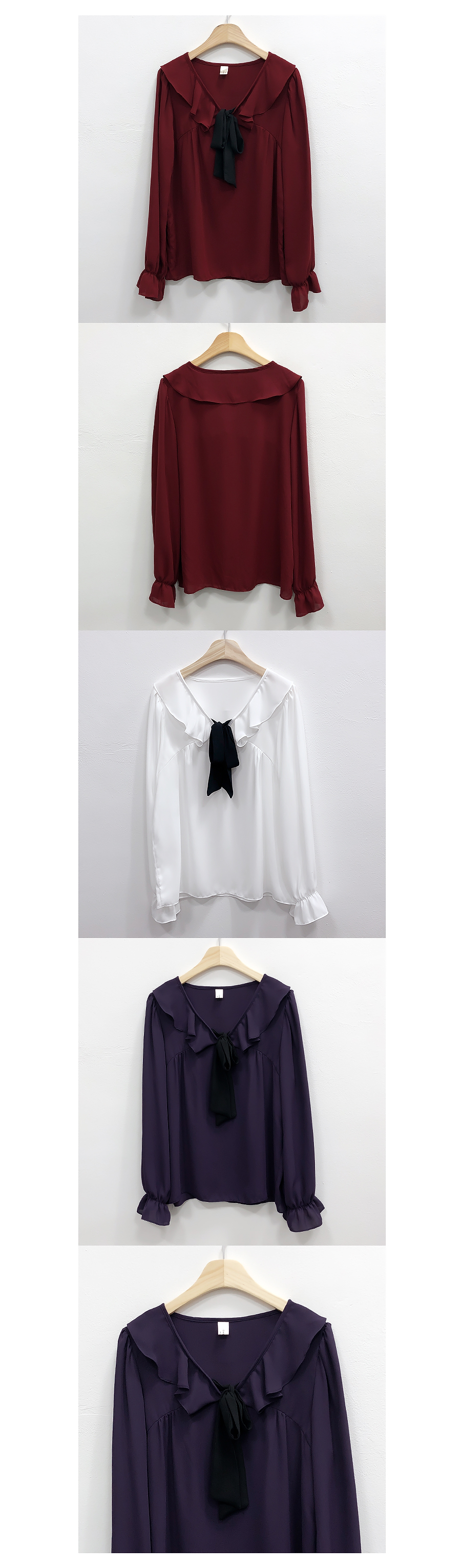 Self-made, same day delivery ♥ Merry Ribbon Color Blouse