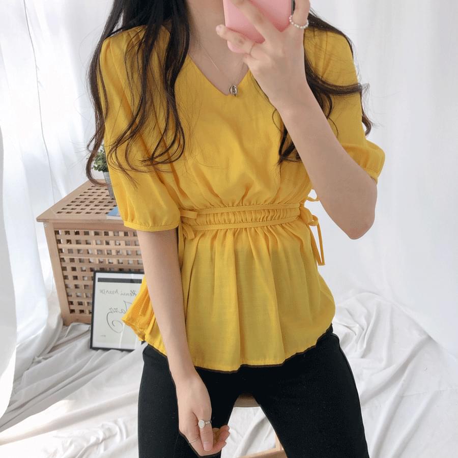 Gomez shirring-string blouse 襯衫