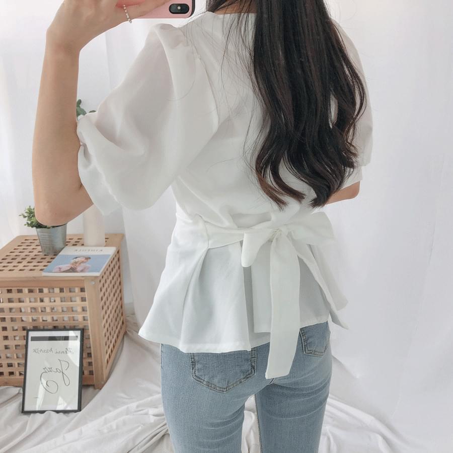 Houl Square Short Sleeve Blouse