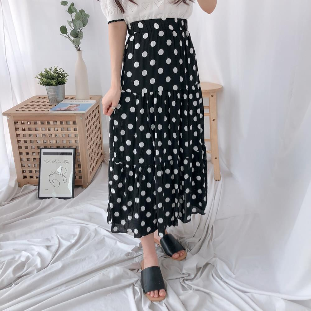 Dot Cancan Long Skirt 裙子