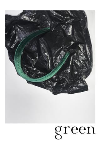 Velvet greenish hair band 配飾