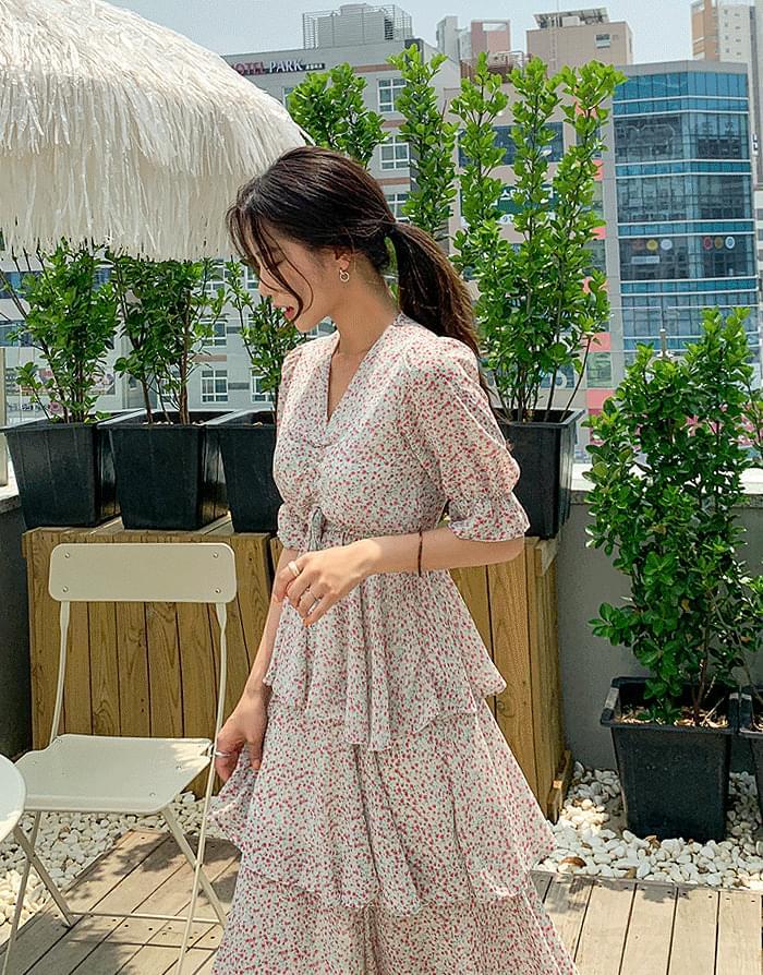 Puffing Chiffon Dress