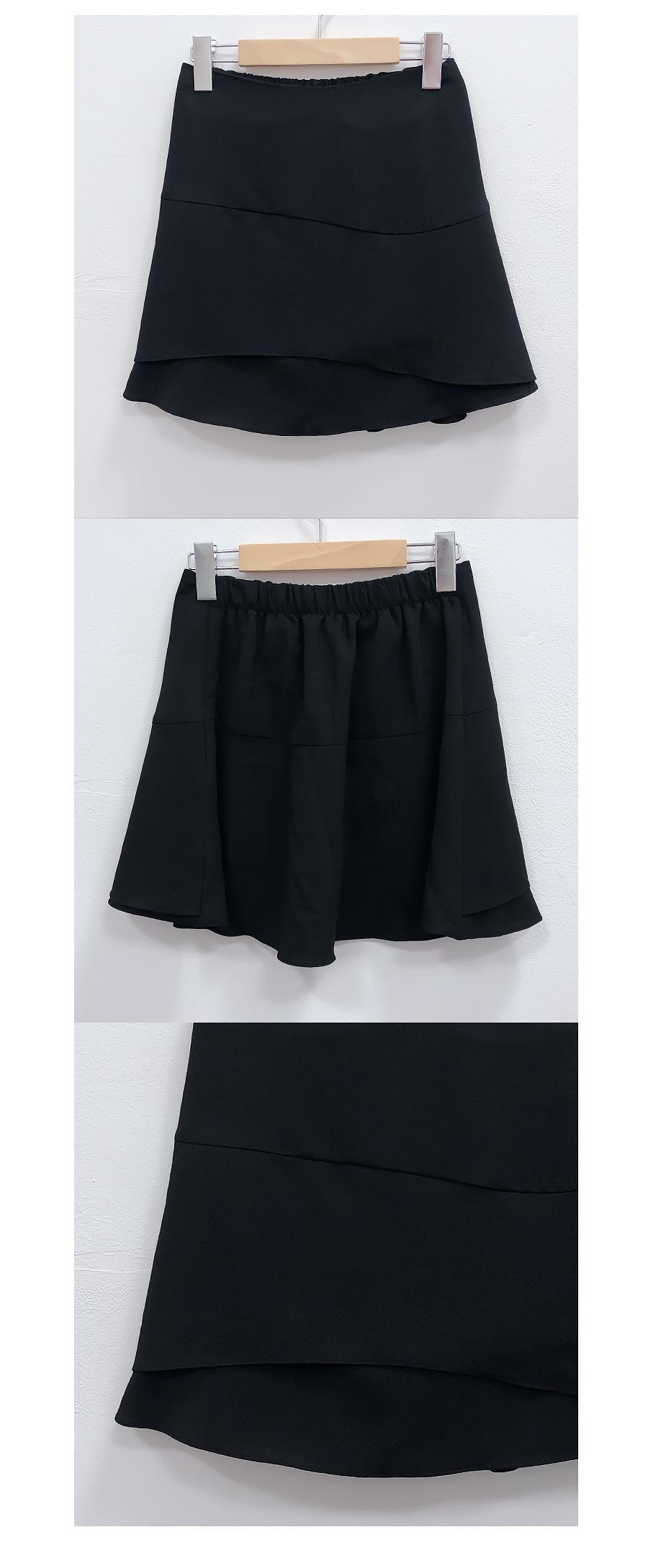 Wavy line flared skirt pants