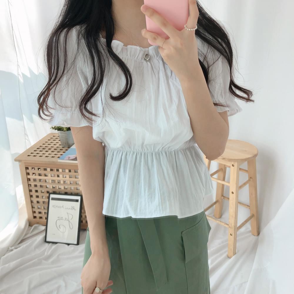Whistle shirring blouse