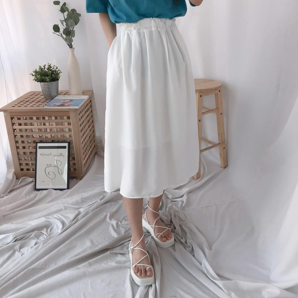418 flare long skirt