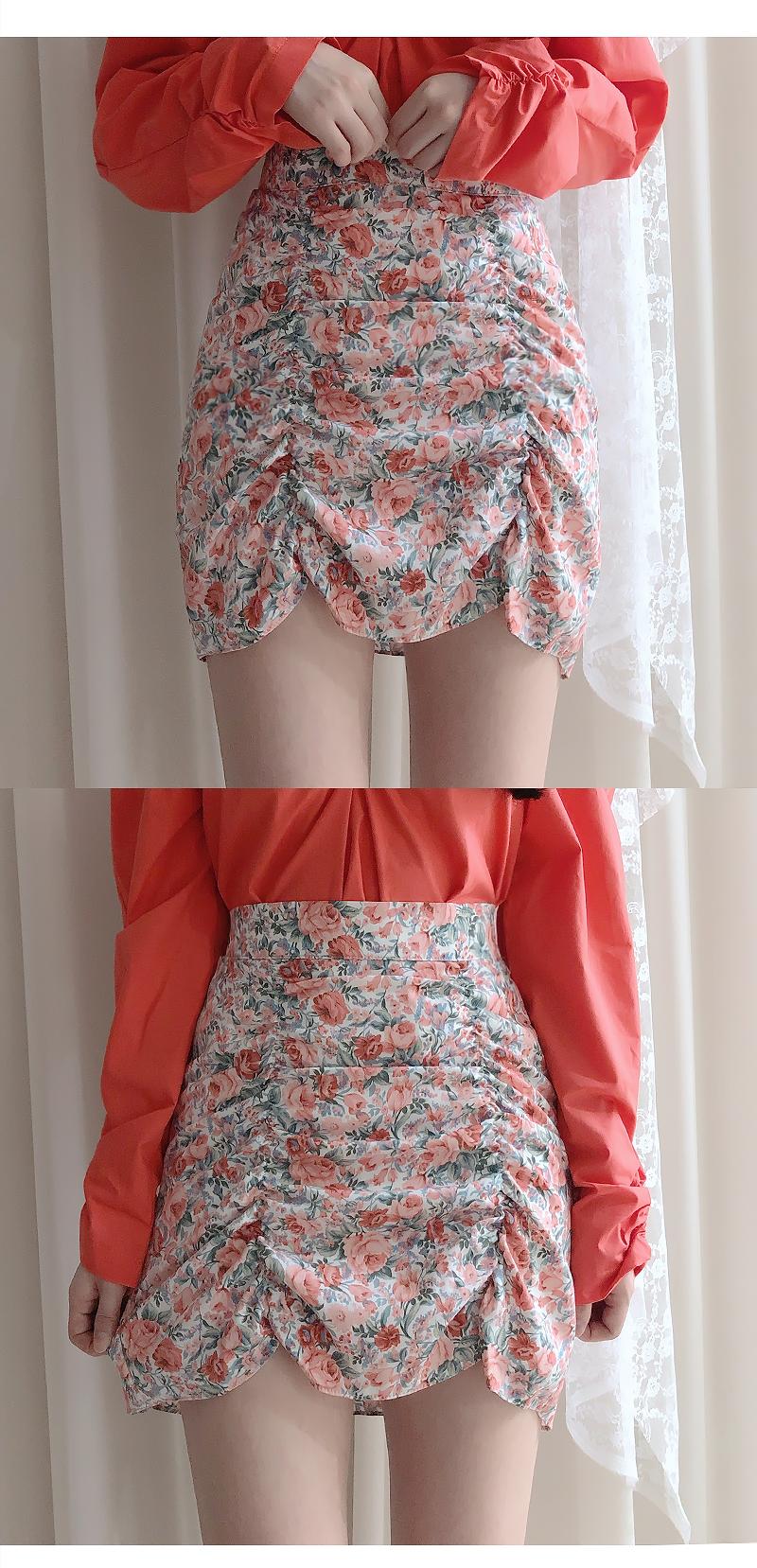 Class flower shearing skirt