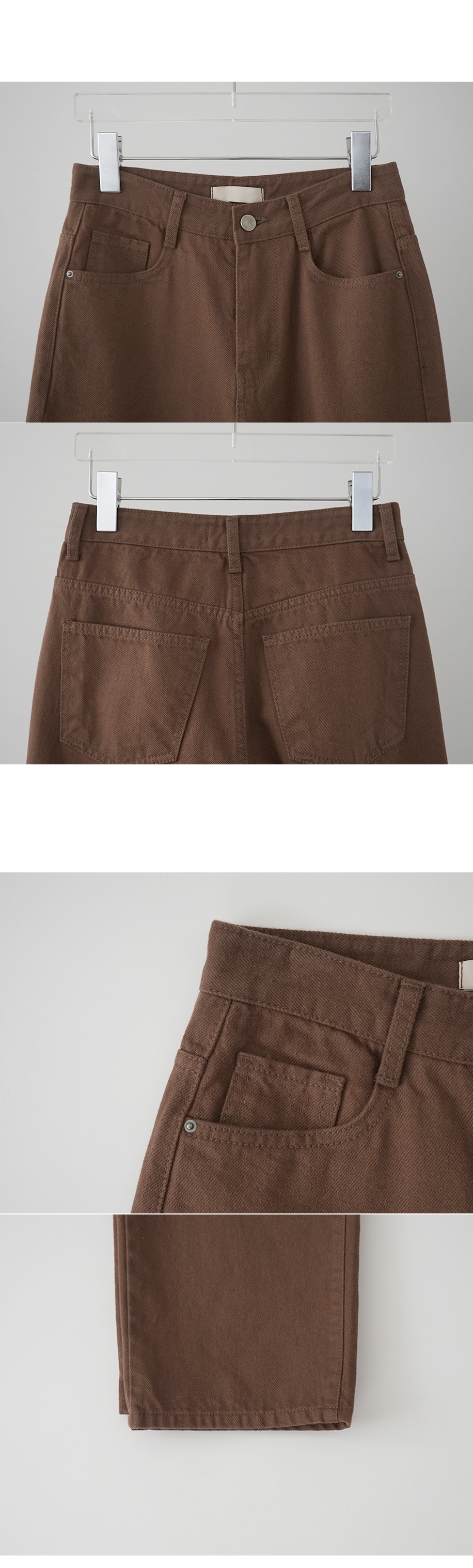 twill texture straight fit pants (4colors)