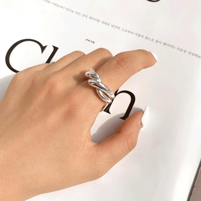 Bold kink all silver925 ring