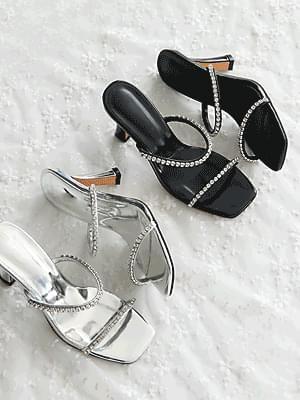 Lucaen Mule Slippers 8cm