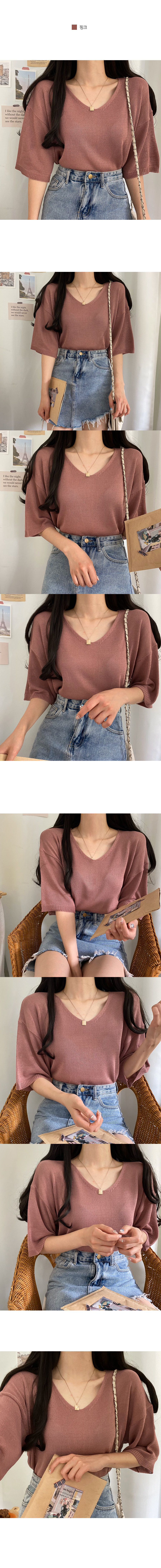 Oz pleated fit short sleeve knit