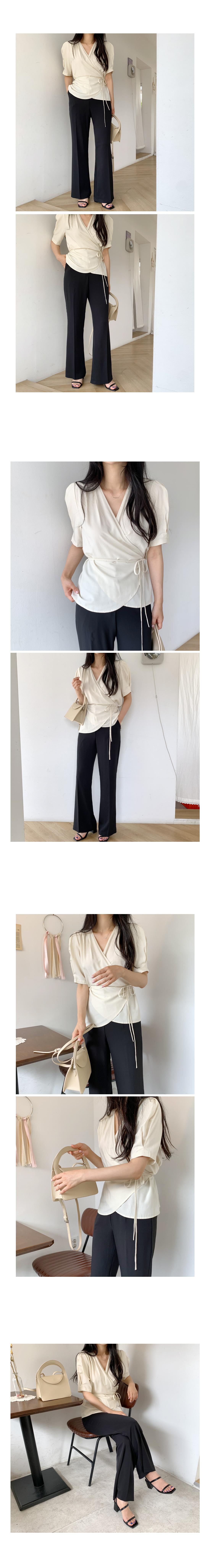 Go Go Summer Long Boots Cut Slacks-Sora Size M