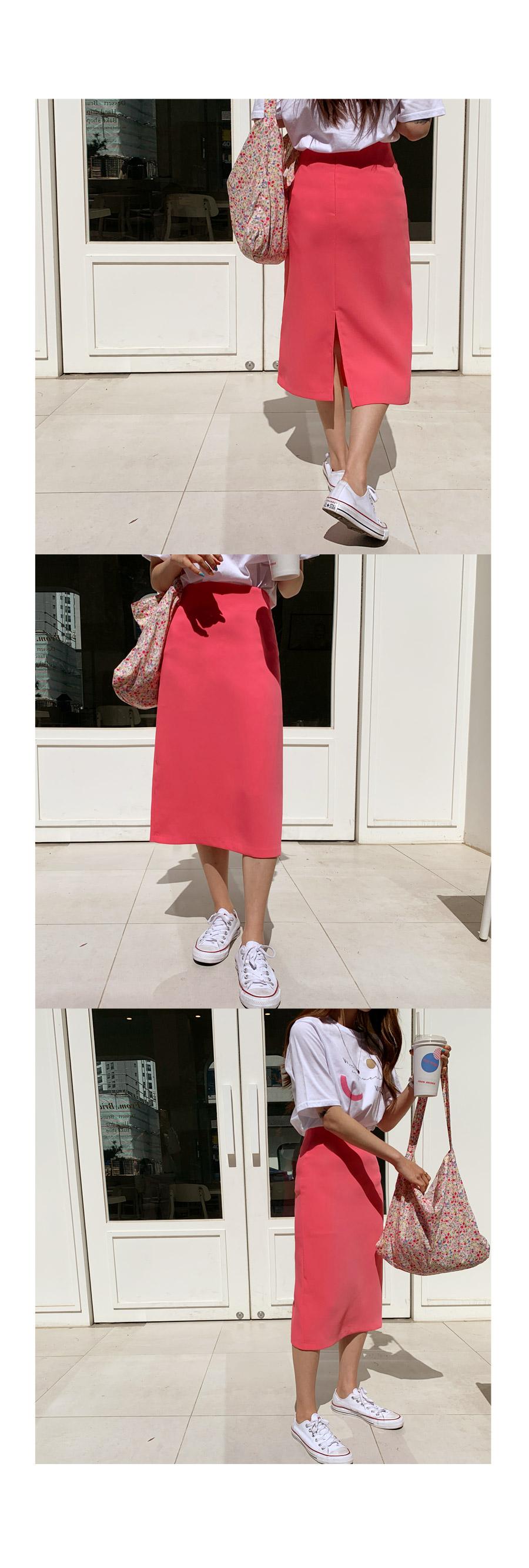 Color Monica H long skirt