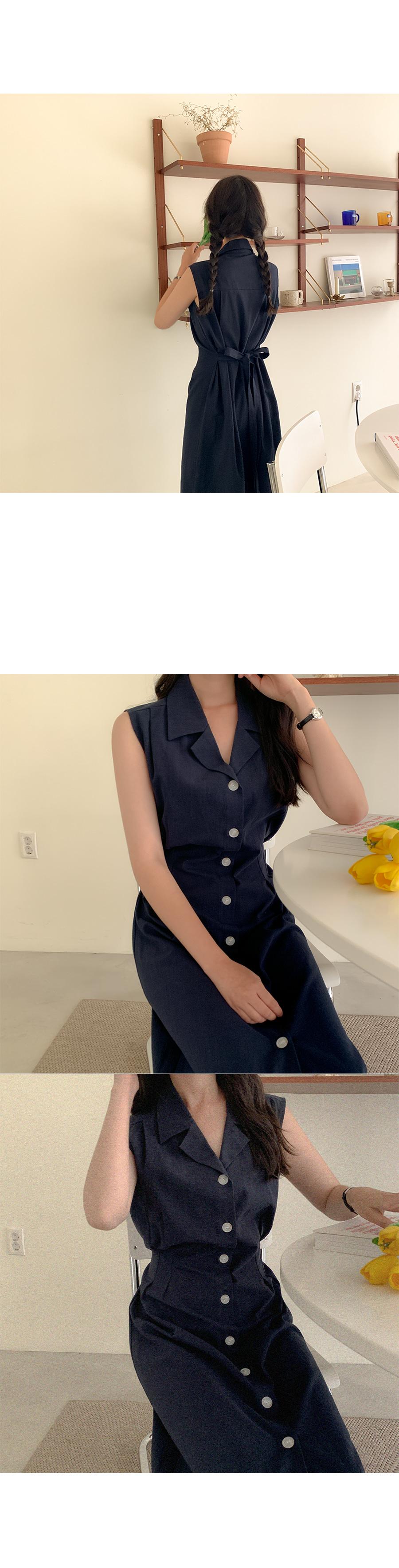 Bedi linen button dress