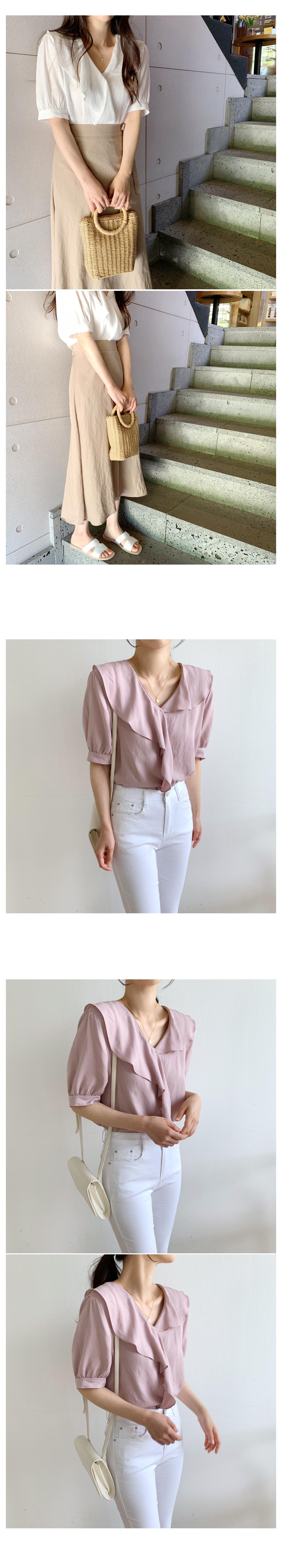 Chloe frilly blouse