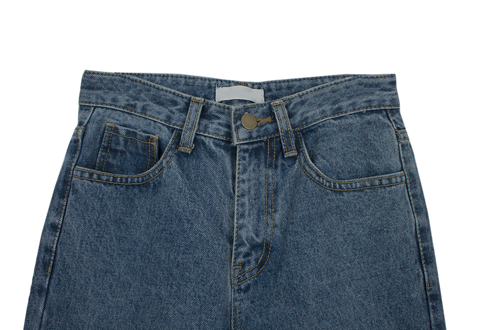 Retro long wide denim