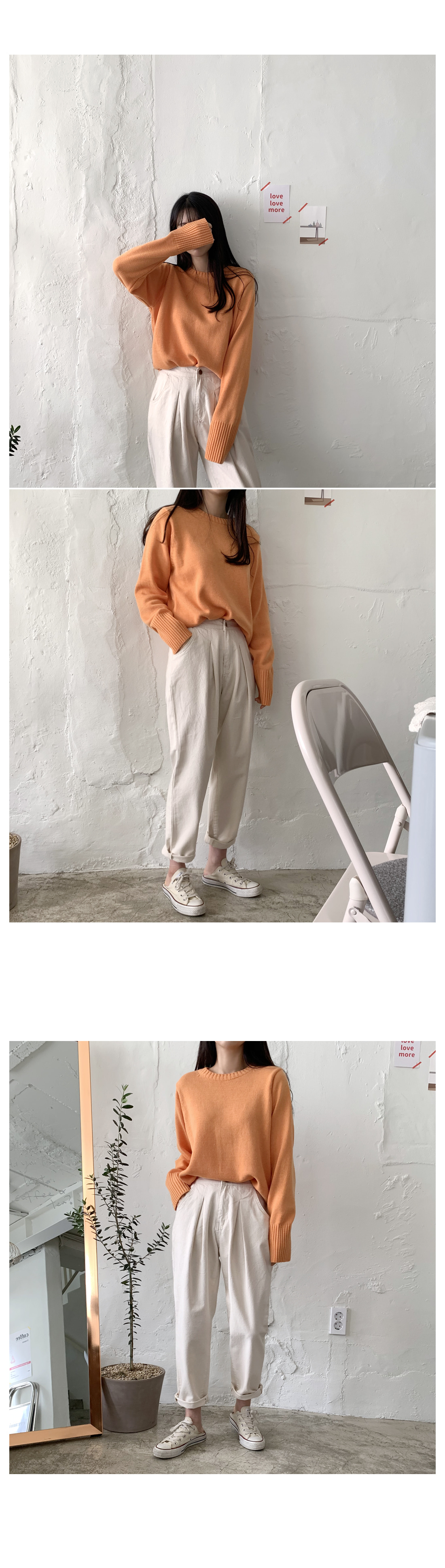 Stone pintuck wide pants-small size