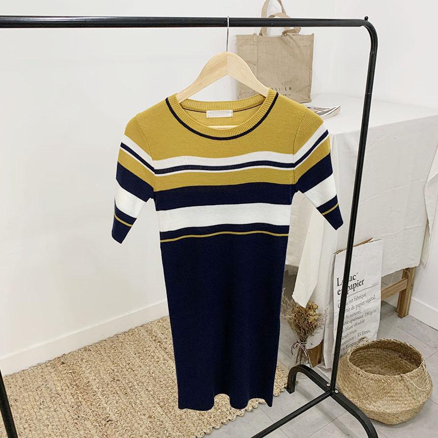 Lomen Stripe 5 Piece Mini Dress