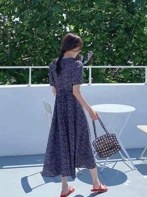 Ruffle Vintage Long Dress