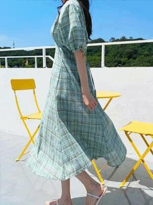 Apple Mint Linen Dress