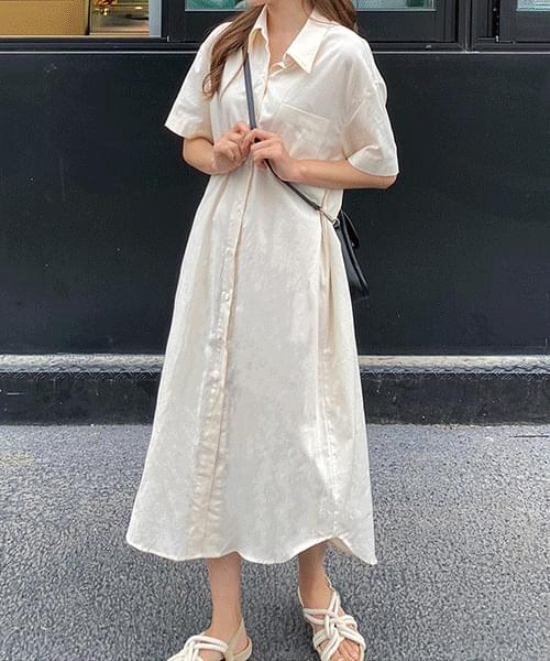 Cotton long shirt dress 洋裝