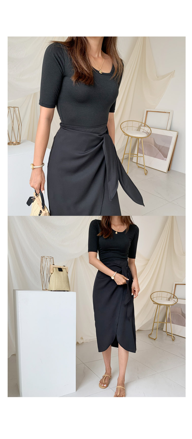 Elice twisted skirt