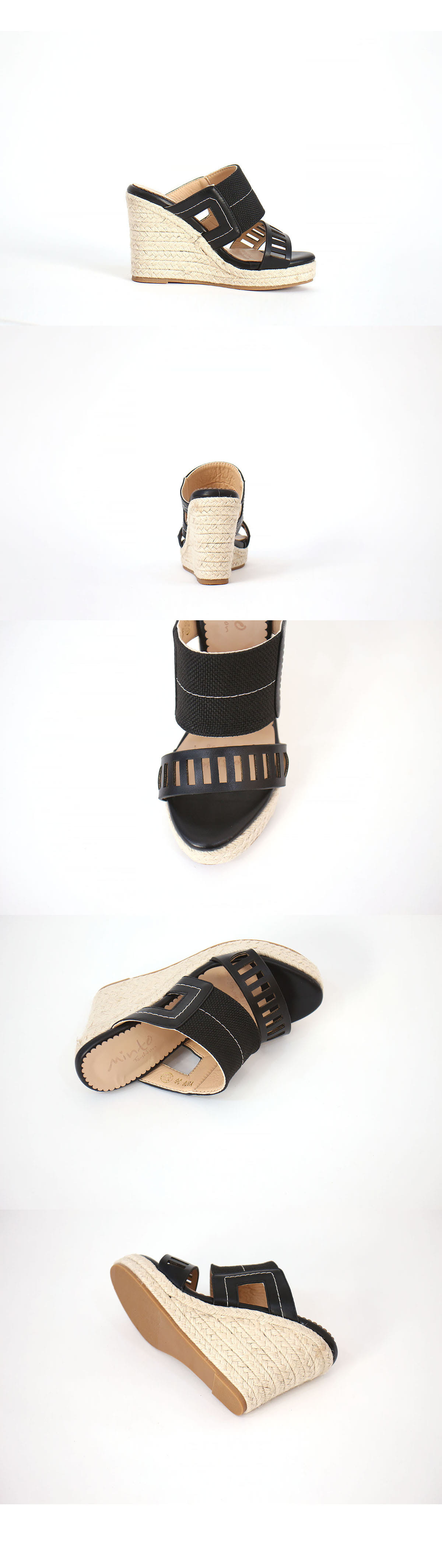 Punching Wedge Mule Sandals