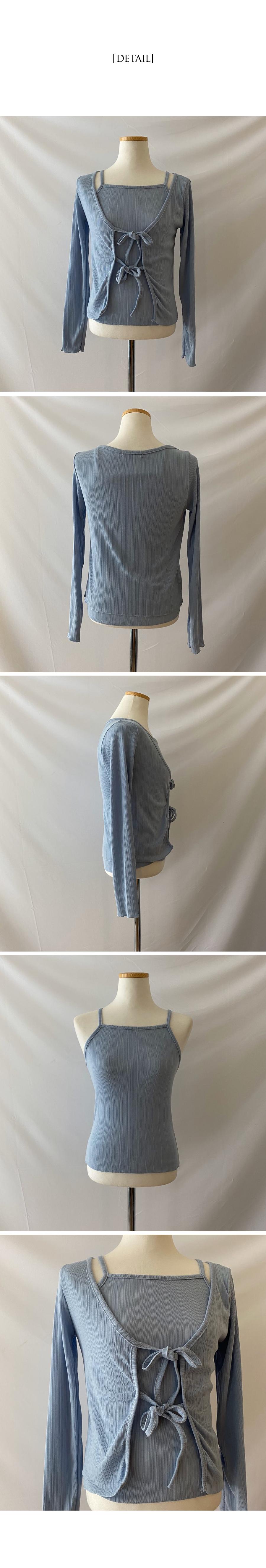 Damier Ribbon Nashi Cardigan Set