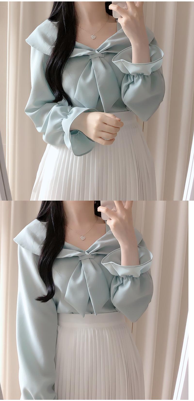 Chloe ribbon blouse