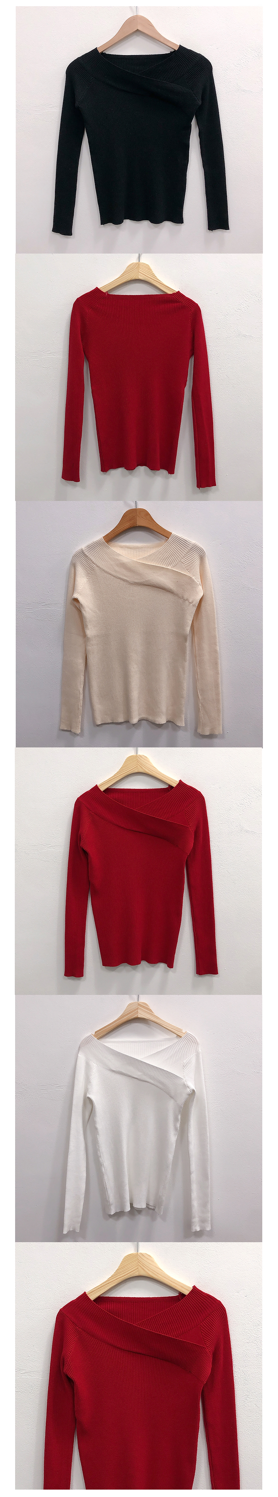 Lua Corrugated Shoulder Knit Tee