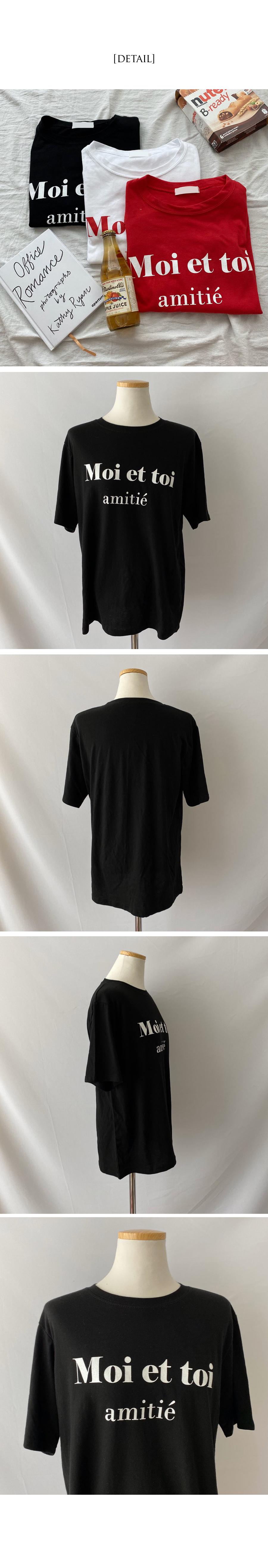 Moiette lettering short sleeve t-shirt