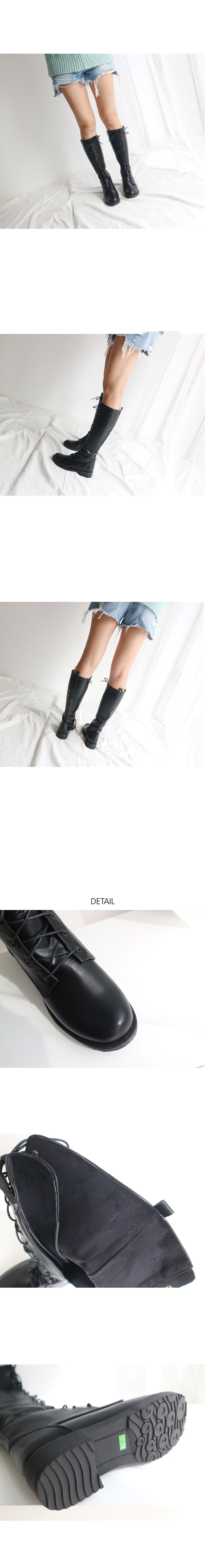 Loria lace-up long boots