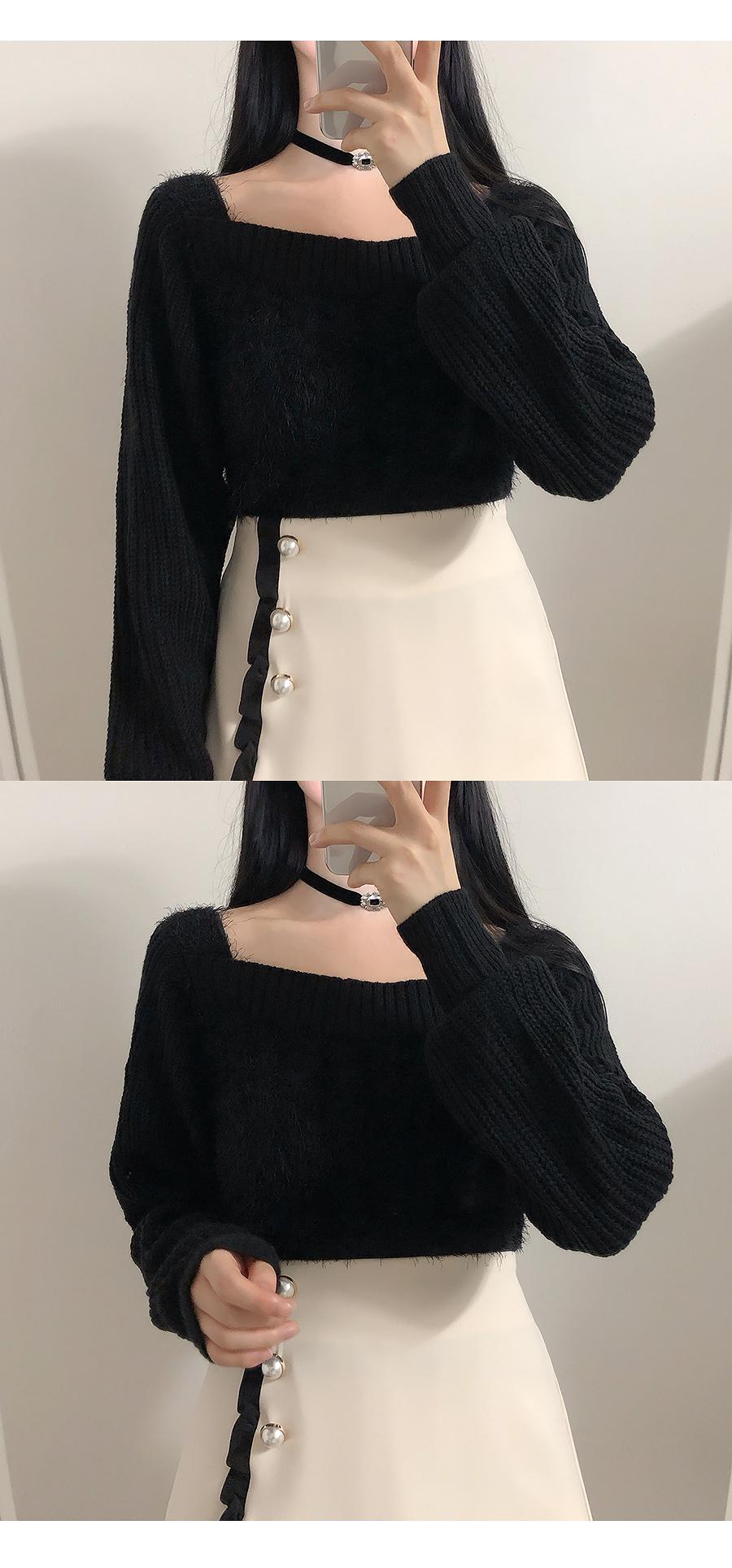 Square Fur Knit