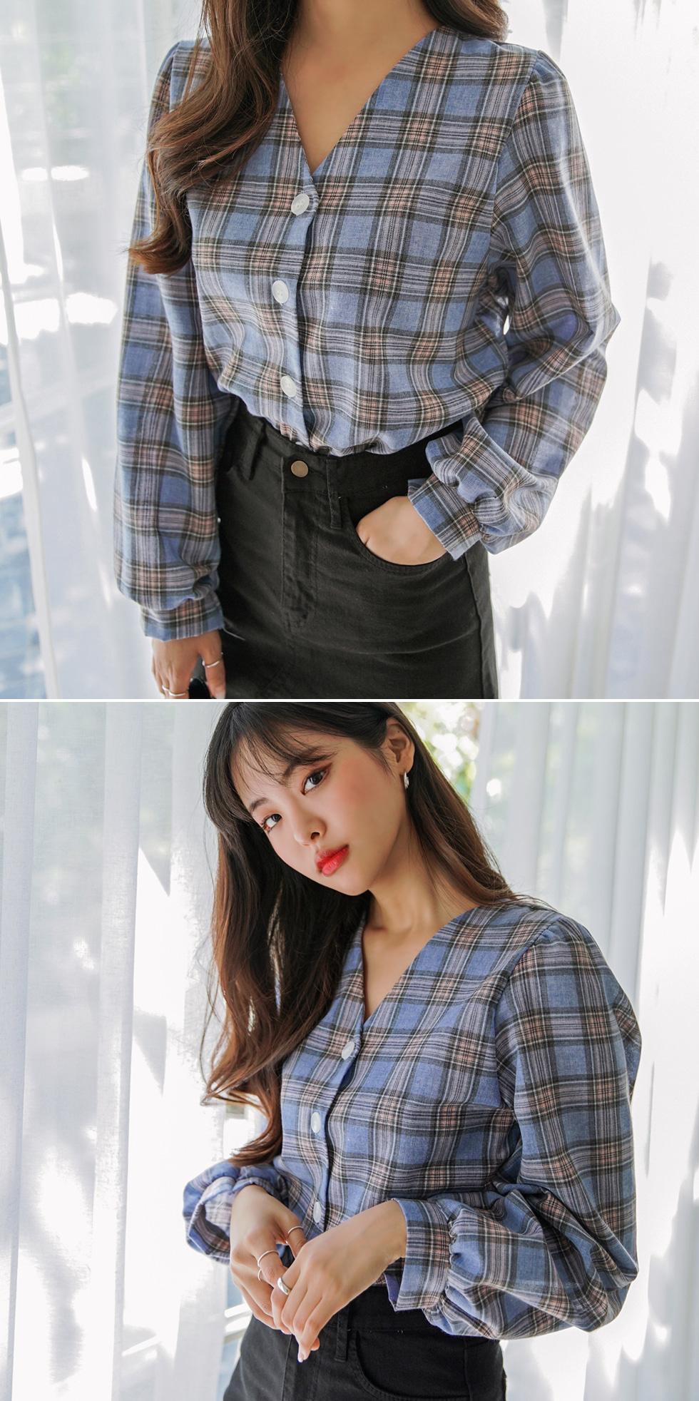 More check blouse