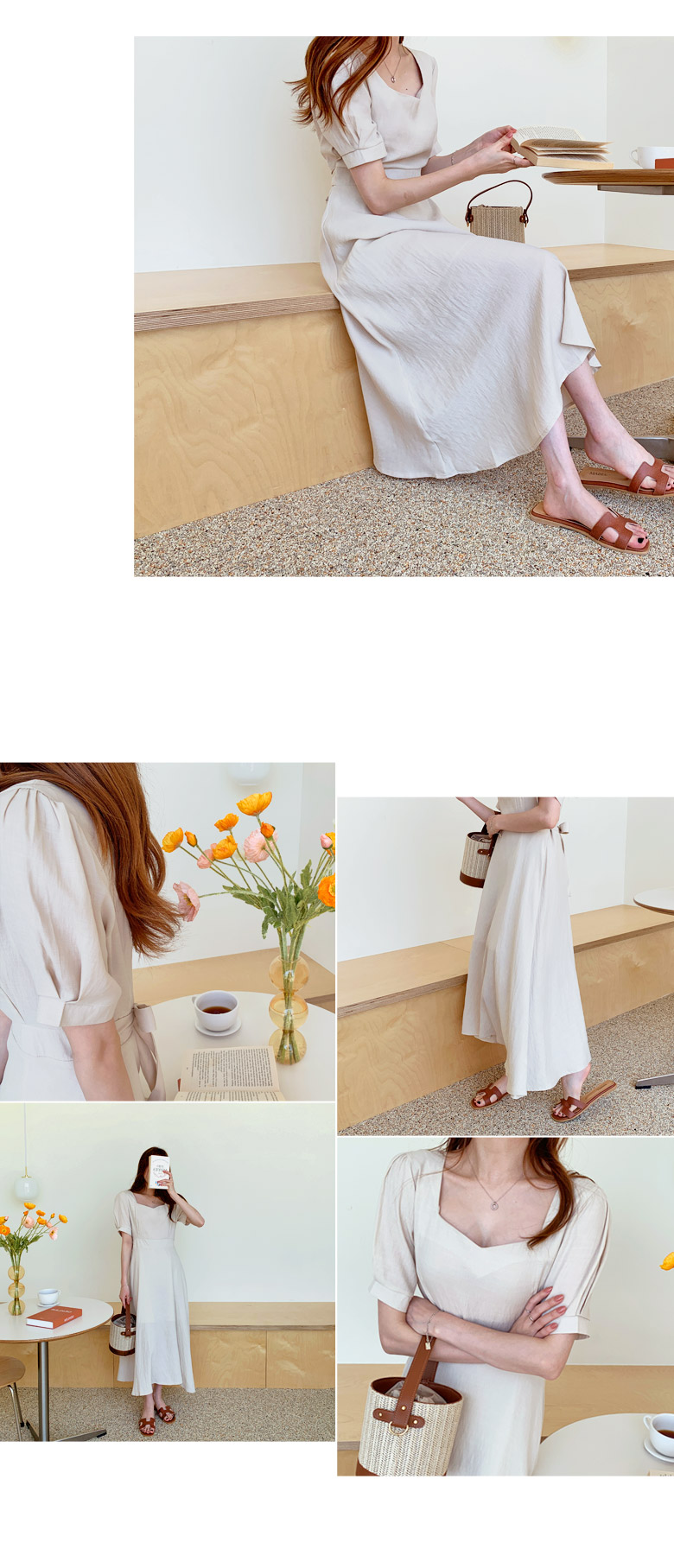 Prince Puff Square Long Dress