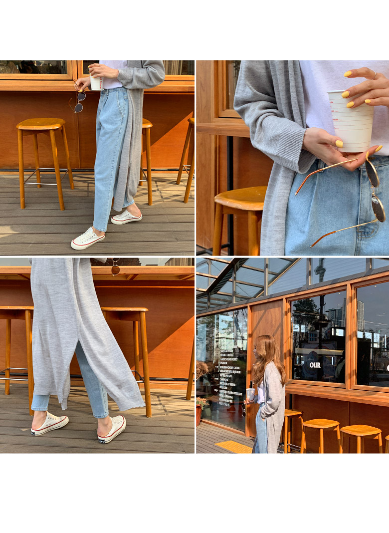 Spring Pin Chin Denim Pants