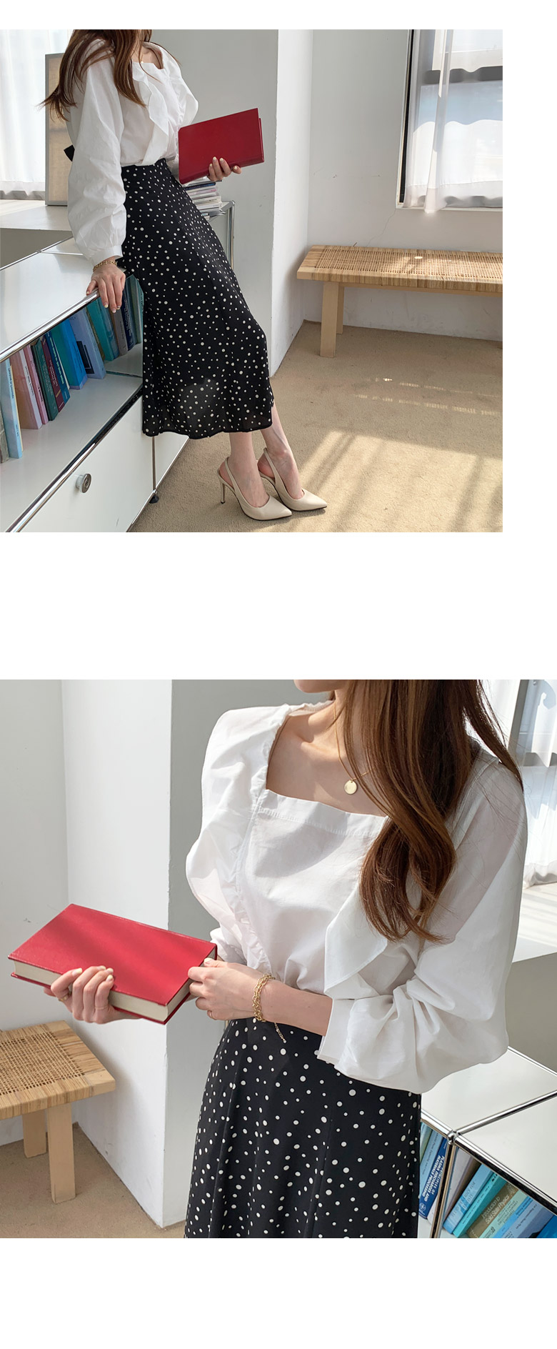 Touch Square Frill Blouse