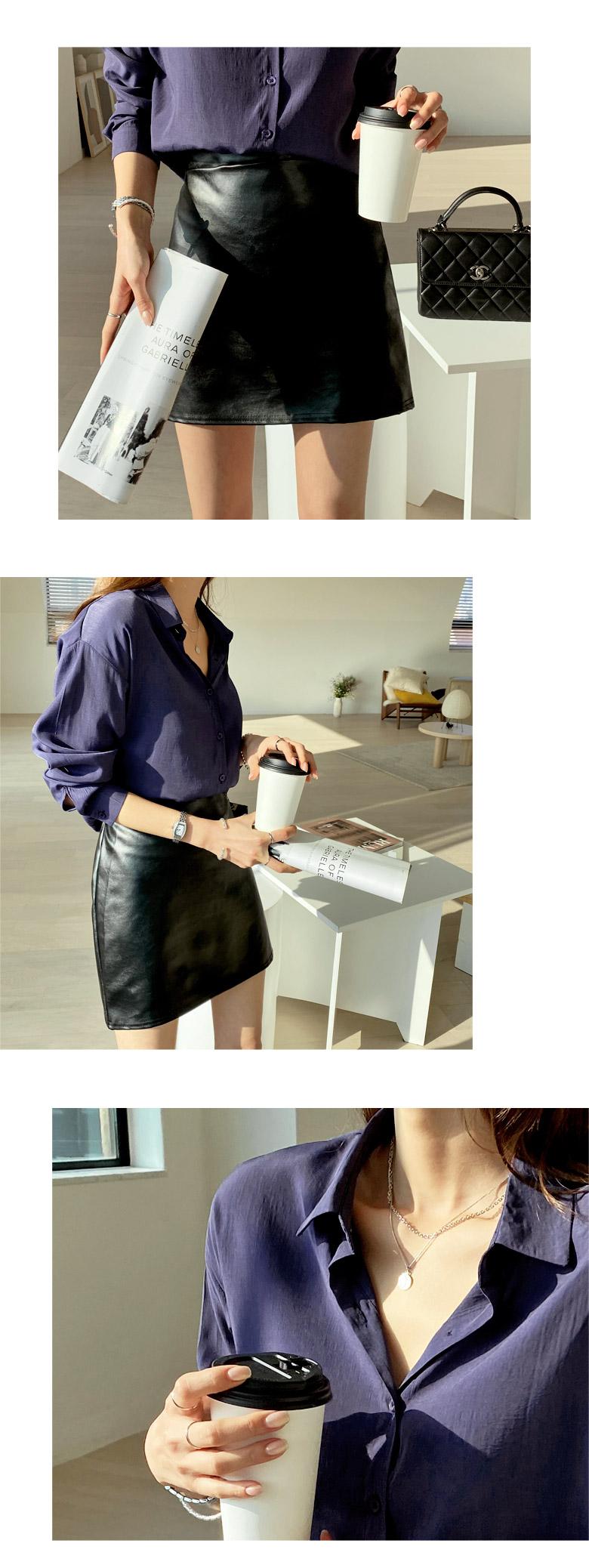 Melbourne Leather Bending Mini Skirt