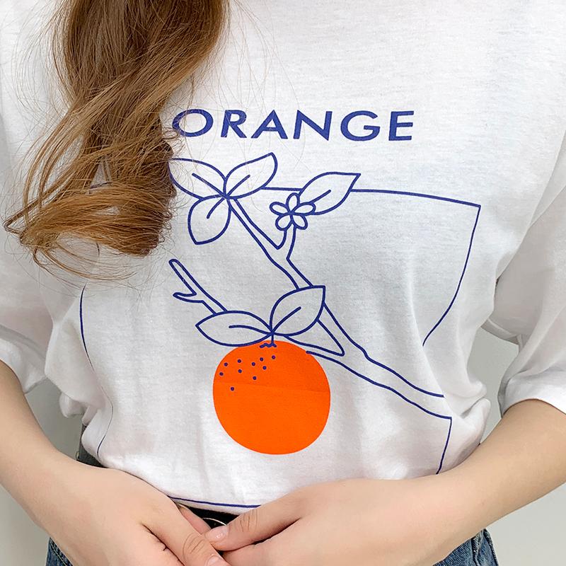 Orange Refreshing Short Sleeve Tee