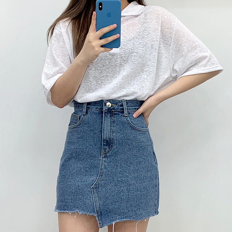 Lona Denim Skirt