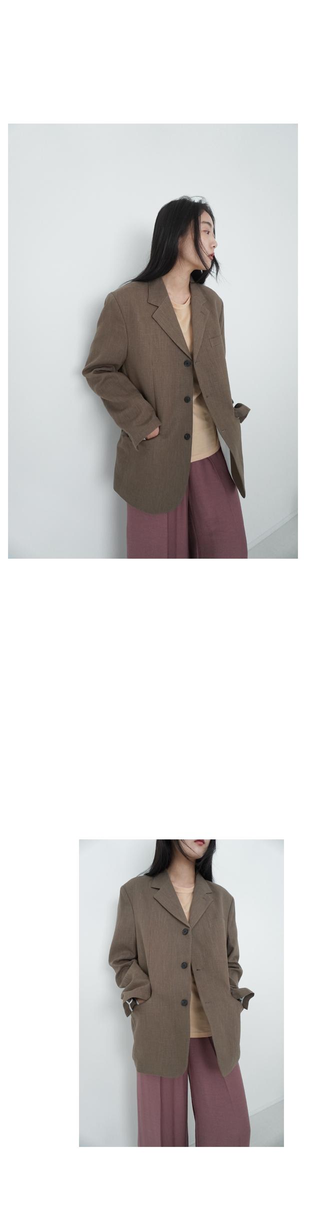 mannish linen jacket (4colors)