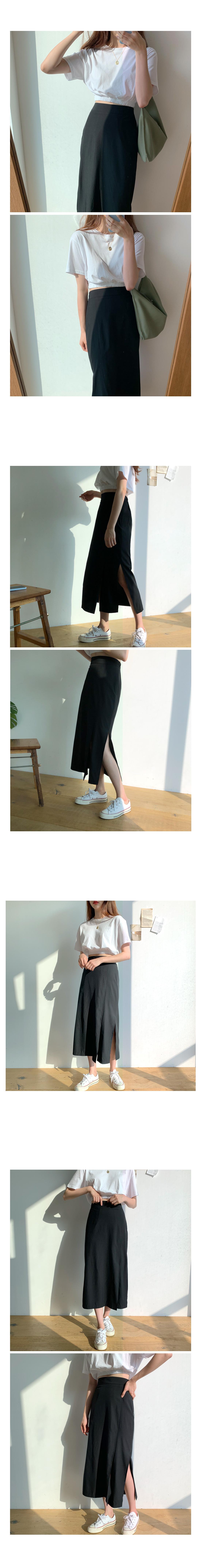 Barnet Trim Long Skirt-Brown, Beige
