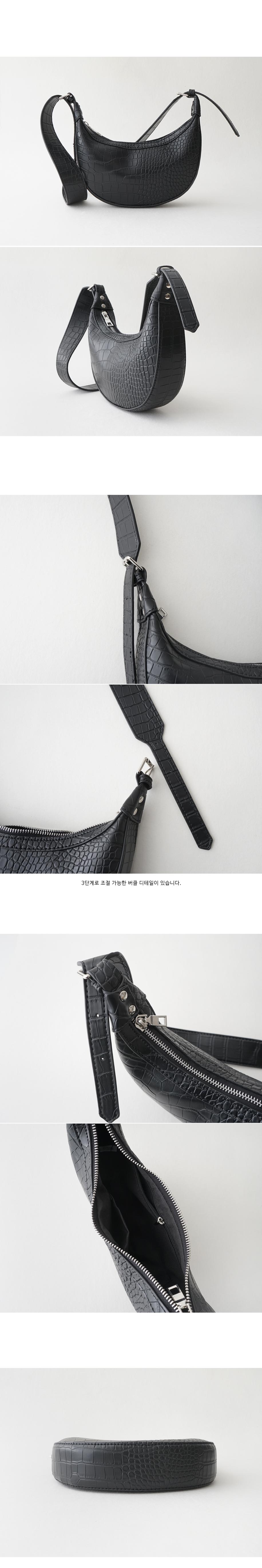 crocodile half moon bag