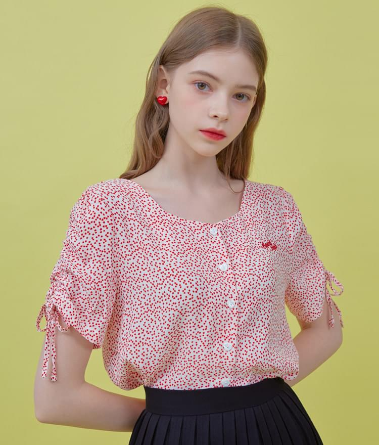 Heart Shirring Blouse