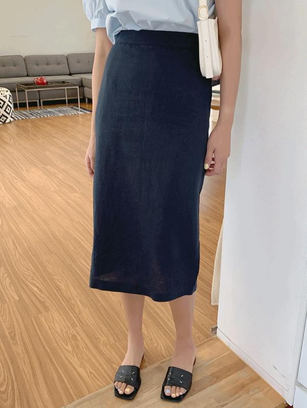 Jelly linen skirt