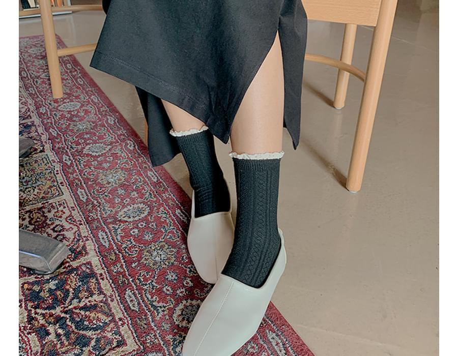 Prin lace point socks_J