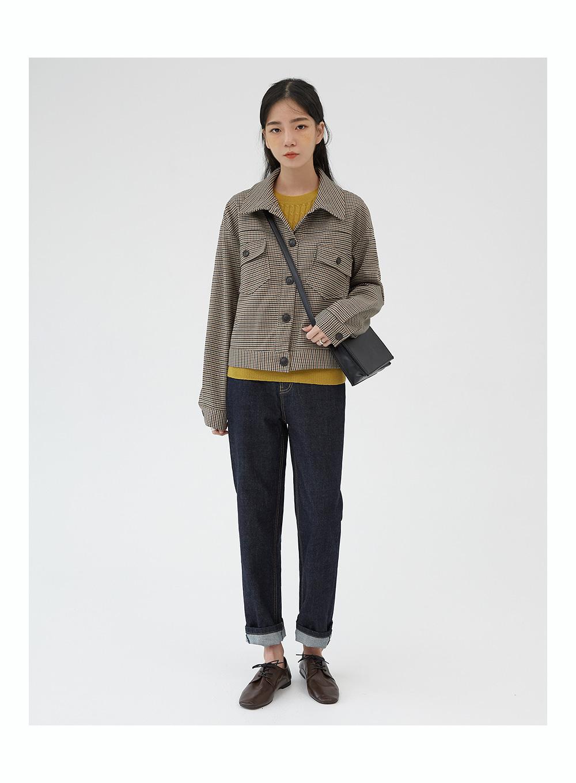 alan check short jacket