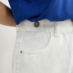 Chichi side button cotton short pants